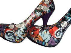 Joker and Harley Quinn  Comic Book Shoes  Comic by MacklinsMurals, $120.00