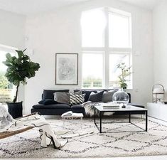 Green Sofa Black And White Rug.Comfortable Living Room Where You Would Love To Spend Your . Beautiful Blue Sectional Sofa To Give Vary Interior Design . Scandinavian Living Room Design Style Decor Around The World. Home and Family Living Room Interior, Home Living Room, Apartment Living, Living Room Furniture, Living Room Designs, Furniture Layout, Furniture Arrangement, Custom Furniture, Apartment Therapy