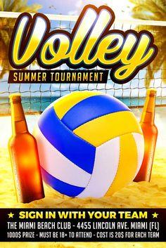 Beach Volleyball Flyer Template Https Www Xtremeflyers Com Beach Volleyball Flyer Template Beach Volley Beach Volleyball Volleyball Posters Flyer Template