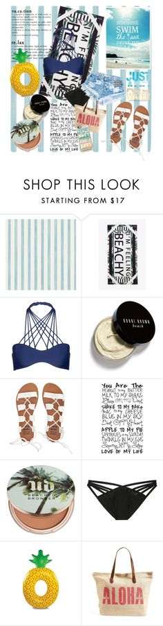 """Beach Day"" by diyagyulemerova ❤ liked on Polyvore featuring Christian Lacroix, Monki, Mikoh, Bobbi Brown Cosmetics, Billabong, Urban Decay, Victoria's Secret, Runwaydreamz, Rip Curl and Casetify"