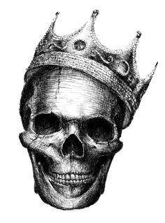 Skull with crown tattoo inspiration