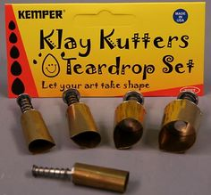 Kemper Clay Cutters Set of 5 Teardrop Shapes ** Be sure to check out this awesome product affiliate link Amazon.com