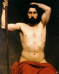 Academic Male nude.1843. Charles Francois Jalabert. French 1819-1901. oil/canvas. http://hadrian6.tumblr.com