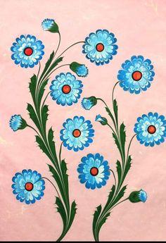 18 Bunch Of Flowers Sketch Ideas Ebru Art, Hand Painted Dress, Turkish Art, Marble Art, Japanese Textiles, Bunch Of Flowers, Botanical Flowers, New Theme, Bookbinding