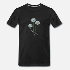 Löwenzahn = Pusteblume Männer Premium T-Shirt Mens Tops, Fashion, Flowers, Kleding, Moda, Fashion Styles, Fashion Illustrations