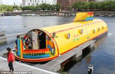 WELL THIS LOOKS LIKE FUN! All aboard: The Yellow Submarine hotel boat is the work of eccentric businessman Alfie Bubbles