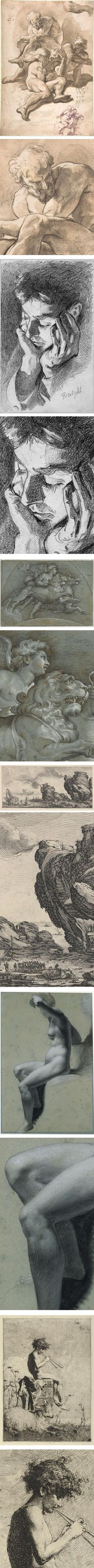 Drawings and Prints: Selections from the Permanent Collection, Metropolitan Museum of Art: Paolo Pagani, John Singer Sargent, Denijs Calvaert, Jacques Callot, Pierre Paul Prud'hon, Mariano Fortuny