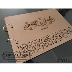 Flower cutout - Guestbook wooden covers