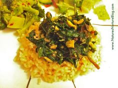 dandelion greens and spinach stir fry