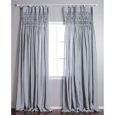 The Smocked curtain from Pom Pom at Home is the ultimate luxurious window treatment! Each curtain features three rows of hand stitched large diamond smocking at the top. It has an exceptional drape because each curtain contains double width linen fabric. Pinch Pleat Curtains, Pleated Curtains, Linen Curtains, Grommet Curtains, Linen Fabric, Swag Curtains, Window Curtains, Amity Home, Colorful Curtains