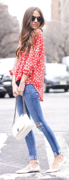 Printed Shirt Outfit Idea by Something Navy