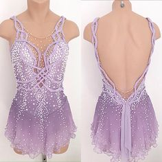 Love the combination of braids with the shiny pearls and crystals on top of the matte lavender color, on this custom Lisa McKinnon dress  Lavender Love  #lisamckinnon #costumedesigner #figureskating #iceskating #skating #usfigureskating #dance #icedance #custom #design #artist #art #airbrush #handmade #beads #beadeddress #jewels #pearls #crystals #swarovski #ropes #mesh #lavender #lilac #jacquard #dyed #color #colour #braided #braids