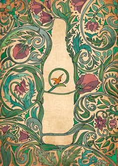 Fernet Branca a lo Art Nouveau on Behance