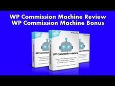 WP Commission Machine Review | WP Commission Machine Bonus - YouTube
