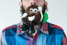LOL Photographer Pierce Thiot and his wife, Stacy, involves putting all crazy stuff in Thiot's thicket of a beard