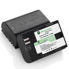 2x 2600 mAh Battery LP-E6 E6N for Canon EOS 5DS 5D Mark II III IV 7D 60D 70D 80D #Powerextra 70d, Canon Eos, Cameras, Lens, Card Holder, Ebay, Camera, Camera Phone