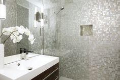 #glass #tile #shower