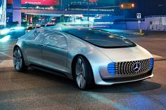Mercedes-Benz previews its future of autonmous transportation with its F015 Luxury In Motion concept at the 2015 Consumer Electronics Show.