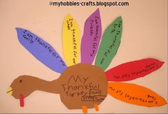 Thanksgiving Craft - Thankful Turkey.