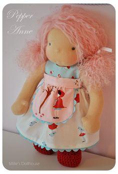 "Pepper Anne is a 10"" handmade Millie's Dollhouse doll. www.milliesdollhouse.com"