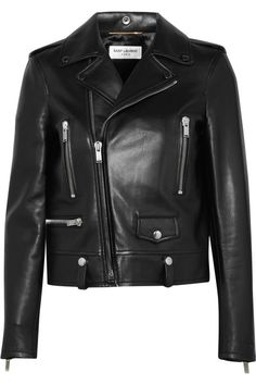 Black leather Asymmetric zip fastening through front  100% leather (Lamb); lining: 60% cupro, 40% cotton Specialist clean  Made in Italy
