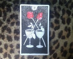 """2 of cups""  This card is the jam. It symbolizes that perfect partner-in-crime, be it a love relationship or a kickass friendship. It's that ultimate back and forth mutual respect, inspiration, ideas and support system for 2 people to converge to one mega-hot entity of world domination."