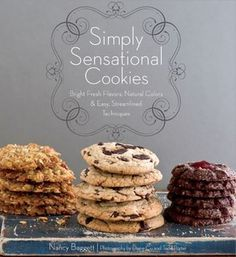 The title says it all!! Simply sensational cookies! With clear instructions this book will have you racing to the kitchen to start cooking a batch today!! Located on our shelves at 641.8654/BAGG