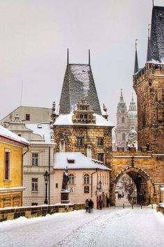 Winter in Prague - I was there for winter and it is beautiful!