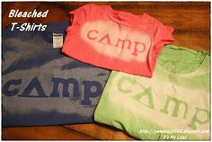 It's My Life: Camping Craft: DIY Bleached Shirts