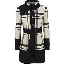 Black Rivet Banded Bottom Wool Jacket