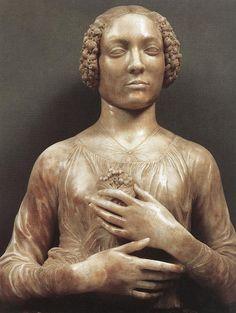 Андреа дель Верроккьо. Женщина с букетом цветов
