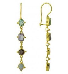 Tess of The D'urbervilles Semi Precious Stone Earrings Sterling Silver Jewelry
