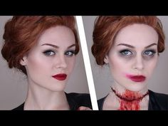 Supernatural: Abaddon Makeup Tutorial by Emma Pickles. She has a great technique for creating a slit throat. If that's not your thing (is it anyone's?), the first part of the tutorial is of a pinup look! YAY! SUPERNATURAL!