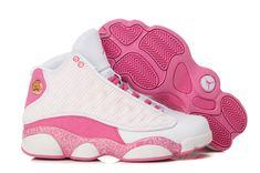 a0a077505b97 Girls Air Jordan 13 New Arrival White Pink Shoes