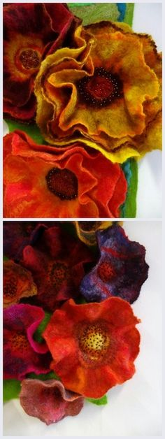 Felted Flowers by Heather Potten