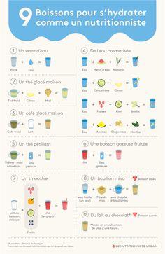 9 recettes de boissons hydratantes et nutritives illustrées par Simon L'Archevêque.