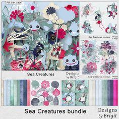 Digital Art :: Bundled Deals :: Sea Creatures bundle by Designs by Brigit