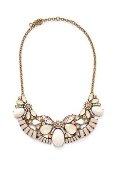 Ornate Faux Stone Bib Necklace from Forever 21 $14,90