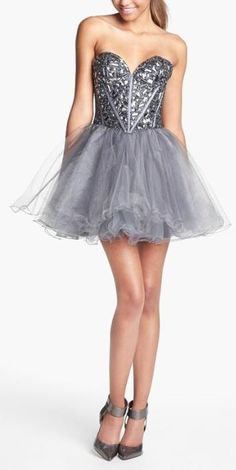 Glitzy glamorous! Sherri Hill Tulle Homecoming Dress