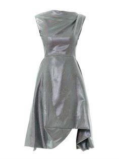 Aztec drape-shoulder lurex dress   Vivienne Westwood Anglomani...