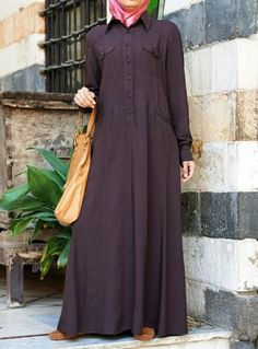 Leah Shirt Abaya Save 46% 70 Percent Cocoa color  This exceptional abaya oozes sophistication with its elegant drape and unparalleled design that'll hold its value as a timeless classic for years to come. Perfect for professionals and students alike, this piece is also ideal for that special smart-casual look.