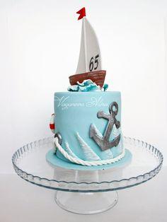 Nautical Birthday Cakes, Nautical Cake, Beautiful Cakes, Amazing Cakes, Sailboat Cake, Sea Cakes, Ballerina Cakes, Cool Cake Designs, Novelty Cakes