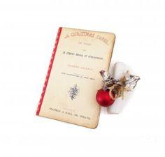 A Christmas Carol Mini Journal, Mini Moleskine Journal, Christmas Notebook, Stocking Stuffer by Dorothyjane for $8.00