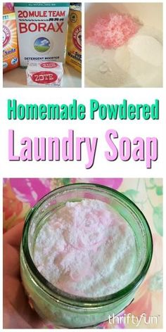 , Homemade Powdered Laundry Soap Making your own laundry detergent powder can save. , Homemade Powdered Laundry Soap Making your own laundry detergent powder can save you money, and give you the cleaning results you want. This is a guid. Powder Laundry Detergent, Homemade Laundry Detergent, Powder Soap, Laundry Powder, Laundry Room, Homemade Cleaning Supplies, Cleaning Tips, Cleaning Solutions, Soaps