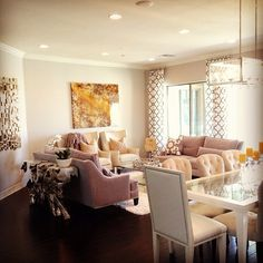 allisons light and soothing living room is styled with z gallerie sofas accent chairs - Z Gallerie Living Room