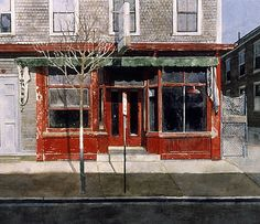 Michael Compton - Inman Square- Watercolor - Painting entry - January 2014 | BoldBrush Painting Competition