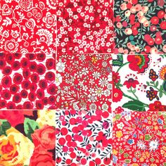 2-1/2 inch Squares: Reds