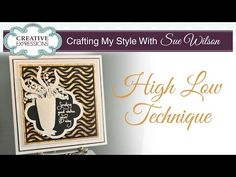 Hi crafters! I am revisiting another favourite technique in today's video; the high/low technique which uses gilding flakes and micr...