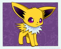Jolteon Chibi by RebeccaKeil on deviantART It's so adorable ! x]