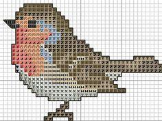 single bird cross stitch pattern